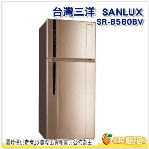 免運 可分期 台灣三洋 SANLUX SR-B580BV 雙門電冰箱 580L DC變頻 省電 1級節能 保固三年 SRB580BV