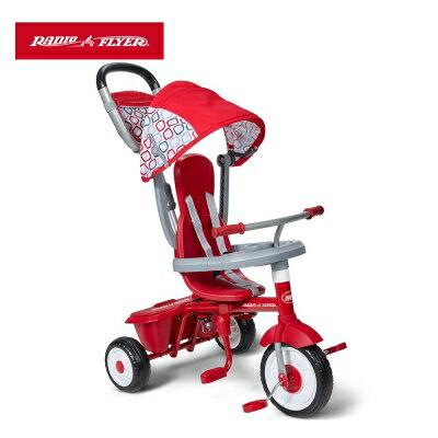 美國【Radio Flyer】紅蜻蜓四合一摺疊三輪推車