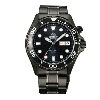 ORIENT 東方錶/WATER RESISTANT系列/黑武士鋼帶200M潛水錶/FEM65007B