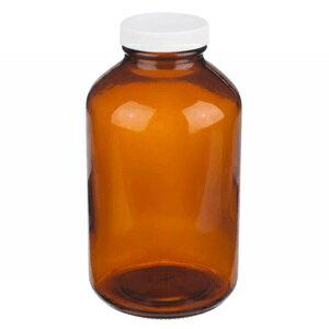 《實驗室耗材專賣》ALWSCI 500ml 茶色廣口瓶 螺牙53-400 白色PP蓋 含PTFE墊片 實驗儀器 玻璃製品 試藥瓶 樣品瓶 儲存瓶 廣口瓶