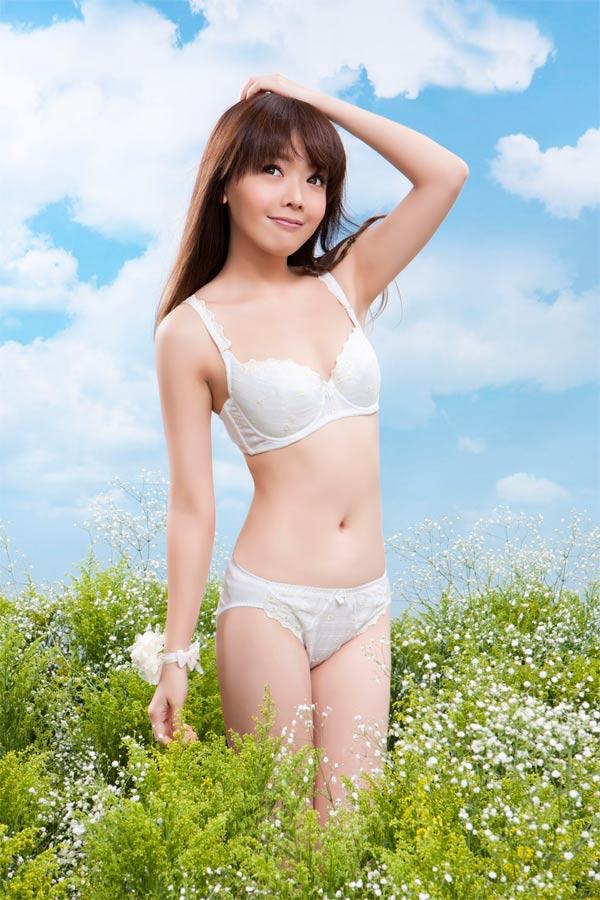 【AJM】花園甜心女孩 三角褲(香檳) 4