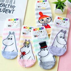 正版嚕嚕米條紋造型短襪 襪子 造型襪 流行襪 直版襪 MOOMIN【B062809】