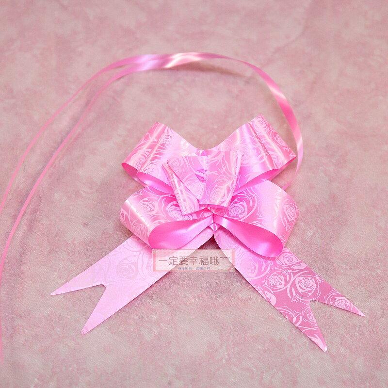一定要幸福哦~~玫瑰粉色車門把花、男方結婚用品.迎娶