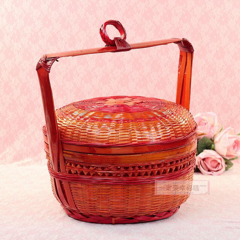 一定要幸福哦~~竹謝籃(1尺) 、男方.女方結婚用品、婚俗用品