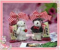 白色情人節禮物到一定要幸福哦~~甜蜜幸福熊喜糖、(10份250元)、結婚.生日.情人節.婚禮小物