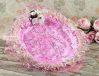 婚禮小物推薦到一定要幸福哦~~幸福對熊煙盤、喜糖盤(粉色) ~ 婚禮小物、喜糖盤、結婚宴客