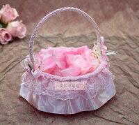 婚禮小物推薦到一定要幸福哦~~卡哇依花童籃、婚禮小物、喜糖、喜籃、花瓣