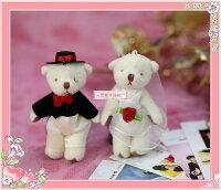 婚禮小物推薦到一定要幸福哦~~甜蜜婚紗對熊~婚禮小物、小熊布熊