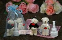 婚禮小物推薦到一定要幸福哦~甜蜜婚紗熊+蛋糕泡泡水、送客禮、姐妹禮、婚禮小物