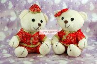 婚禮小物推薦到一定要幸福哦~~喜氣中國風對熊.結婚.生日.情人節.婚禮小物