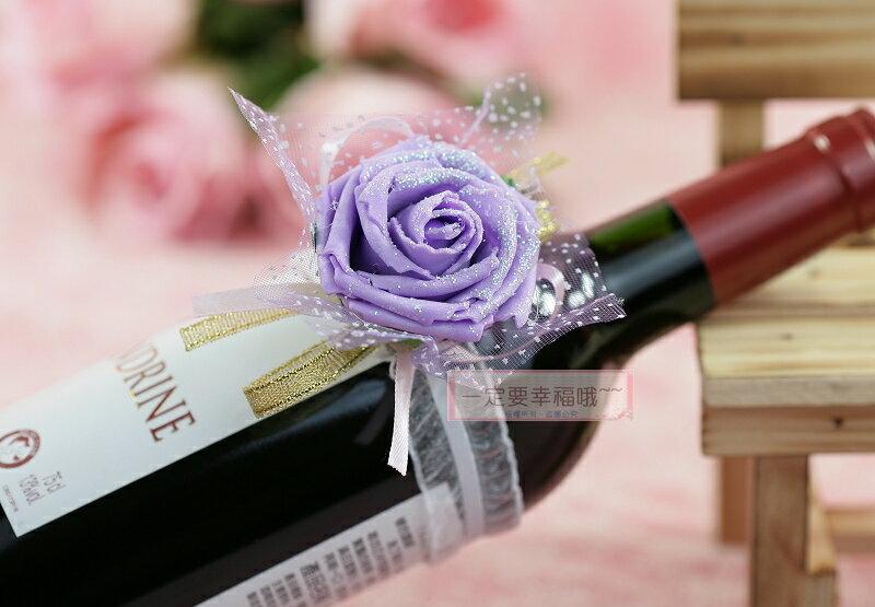 一定要幸福哦~~伴娘花(紫)、手腕花、酒瓶花
