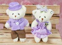 婚禮小物推薦到一定要幸福哦~~婚紗對熊(迷你型)C款~~送客禮、姐妹禮、生日禮、擺飾拍照
