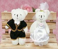 婚禮小物推薦到一定要幸福哦~~婚紗對熊(迷你型)A款~~送客禮、姐妹禮、生日禮、擺飾拍照