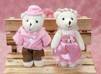 婚禮小物推薦到一定要幸福哦~~婚紗對熊(迷你型)B款~~送客禮、姐妹禮、生日禮、擺飾拍照