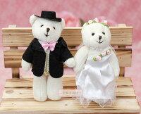 婚禮小物推薦到一定要幸福哦~~婚紗對熊(迷你型)D款~婚禮小物、生日禮物、送客禮