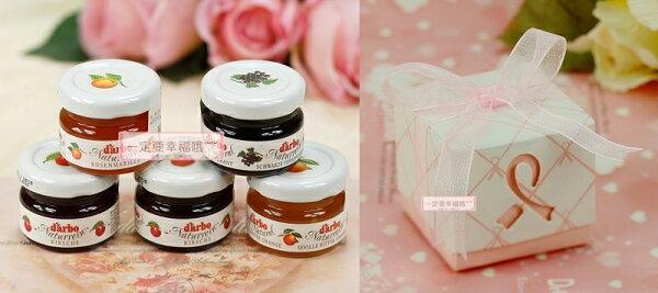 一定要幸福哦結婚百貨:一定要幸福哦~~D'arbo奧地利天然果醬+DIY粉蝶物語喜糖盒、送客禮、果醬