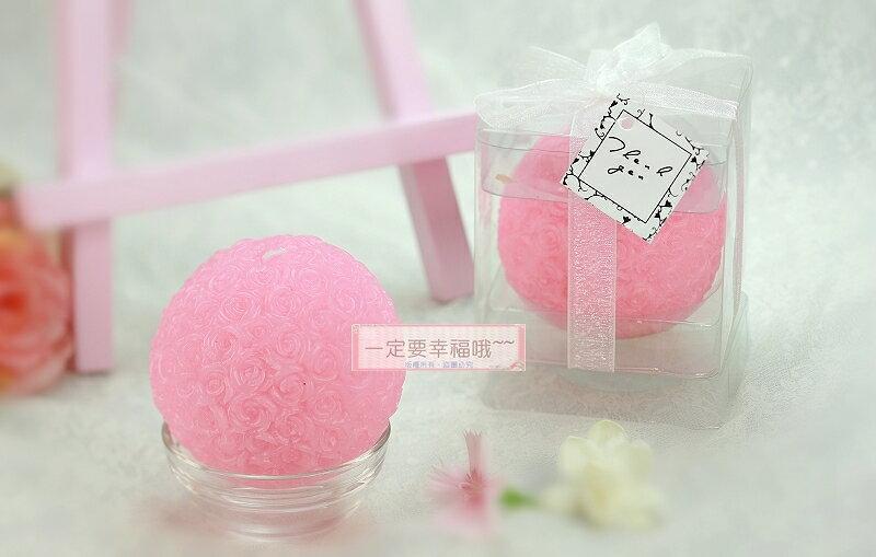 一定要幸福哦~~玫瑰花球蠟燭、婚禮小物 、婚禮佈置