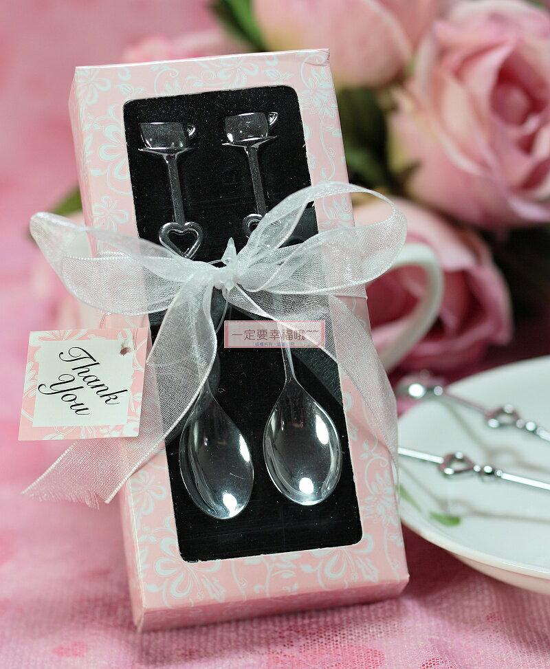 一定要幸福哦~~情侶咖啡匙、送客禮、婚禮小物