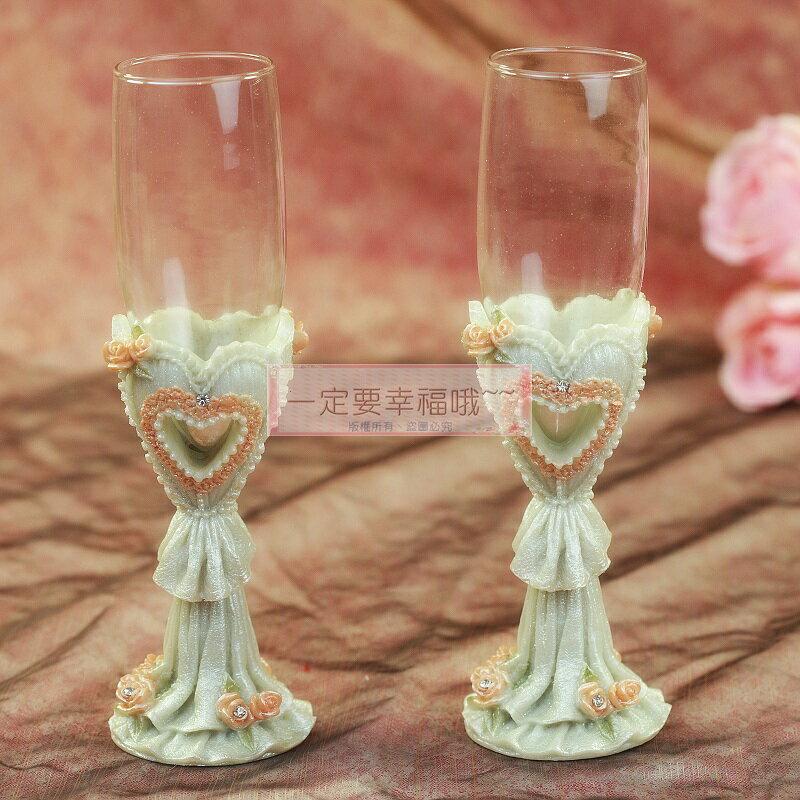 一定要幸福哦~~浪漫心形婚宴對杯、婚禮小物、姐妹禮、結婚證書 - 限時優惠好康折扣
