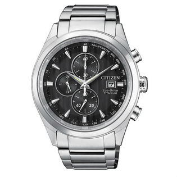 CITIZEN星辰錶CA0650-82F商務時尚光動能計時鈦金屬腕錶黑面43mm
