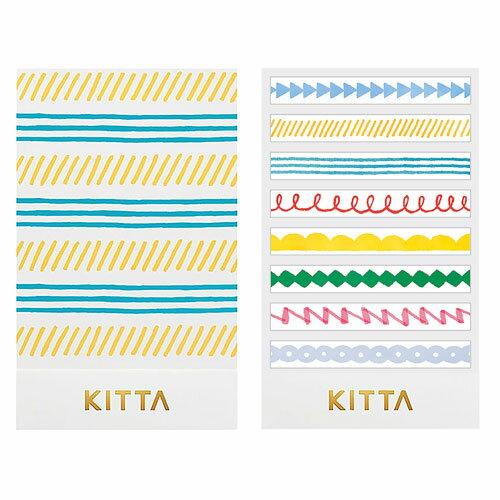 【日本KITTA】隨身攜帶和紙膠帶slimKITS005塗鴉線條本