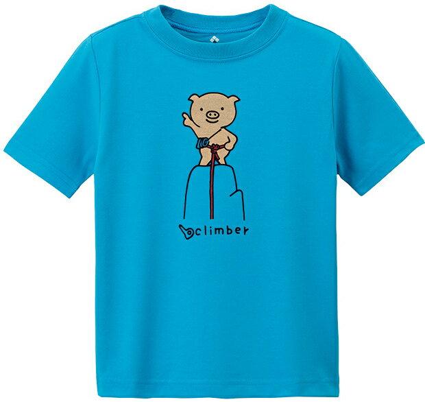 Mont-Bell 兒童排汗短T 幼童排汗衣 3-7歲 Wickron 1114331 SEBL 登頂豬 岩藍