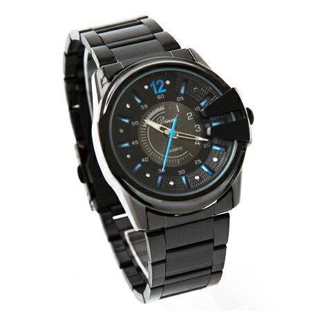 手錶 立體刻度獨特龍頭質感金屬腕錶 仿潛水面板造型亮彩多色 禮物 柒彩年代【NE1495】單支售價 - 限時優惠好康折扣