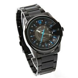手錶 立體刻度獨特龍頭質感金屬腕錶 仿潛水面板造型亮彩多色 禮物 柒彩年代【NE1495】單支售價