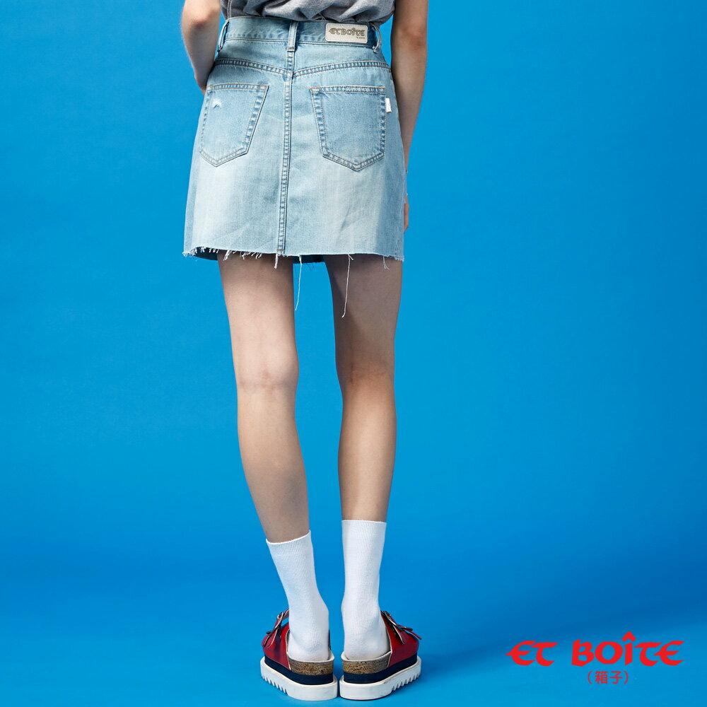 【春夏新品】激光刷破牛仔短裙- BLUE WAY  ET BOiTE 箱子 3