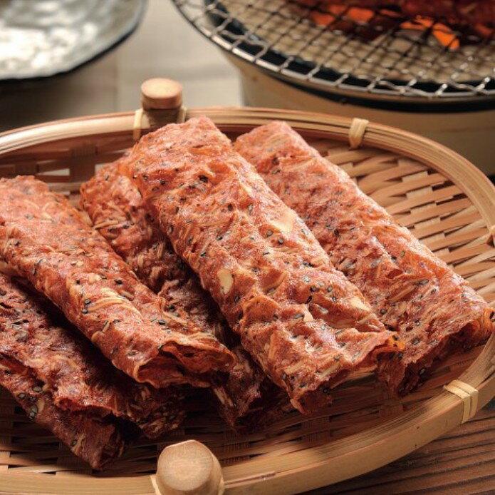 【野味食品】黑橋牌黑胡椒杏仁脆片肉乾70g / 包(10捲) 2