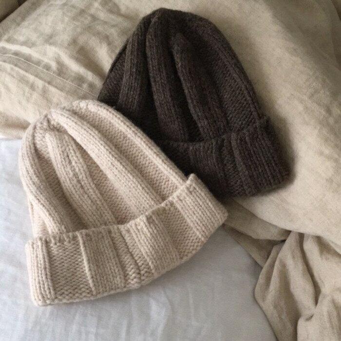 韓國簡約純色Q毛帽 (2色)