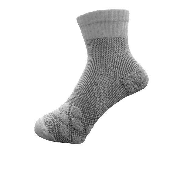 新澄生活MotionJet EGXTech P83 中筒多功8字繃帶運動襪AIR 白灰(四款尺寸可選)