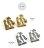 日本CREAM DOT  /  ピアス メタル プレート たたき加工 サークル 丸 ゴールド シルバー シンプル 上品 清楚 結婚式 お呼ばれ 大人め カジュアル 小物 ファッション 大人 レディース outlet  /  qc0360  /  日本必買 日本樂天直送(400) 3