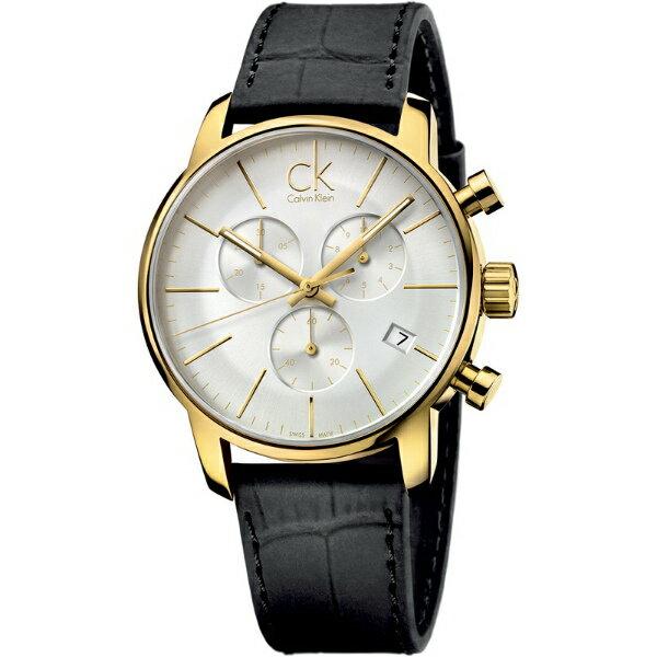 CK 都會系列(K2G275C6)都會雅痞計時腕錶/白面43mm