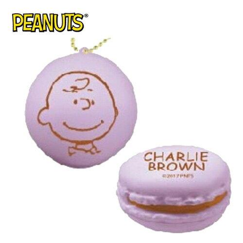 查理布朗 紫色【日本進口】史努比 Snoopy 馬卡龍 捏捏吊飾 吊飾 捏捏樂 軟軟 PEANUTS squishy - 620347