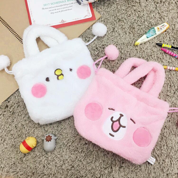 PGS7 日本卡通系列商品 - Kanahei 卡娜赫拉 手提 束口袋 提袋 環保袋 購物袋 p助 兔兔【SIB61087】