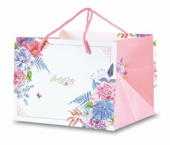 【零售量]手提平放袋6號愛在春天.粉50個