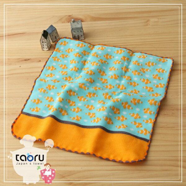 taoru:日本毛巾:町娘物語_小丑魚25*25cm(手巾假日水族館--taoru日本毛巾)