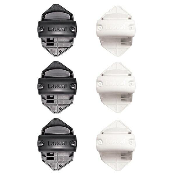 瑞典 Lascal KiddyGuard 安全門欄配件-鎖鉤邊欄杆安裝套件(黑/白)(3入)