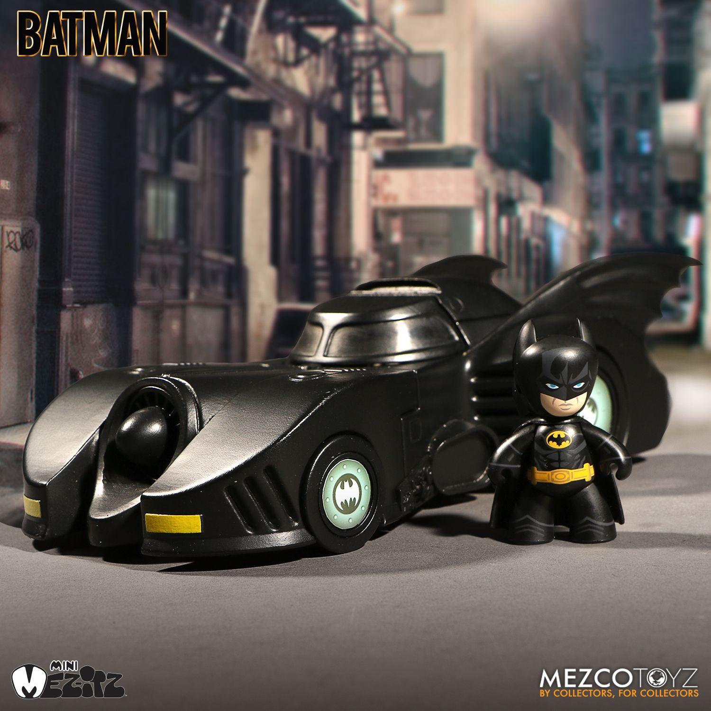◆時光殺手玩具館◆ 已結束預購 預定到貨日2017年9月 公仔 MEZCO Mezitz-1988 蝙蝠俠&蝙蝠車組 (106/4/26日21:00結單) ★超商及黑貓取貨付款免訂金★
