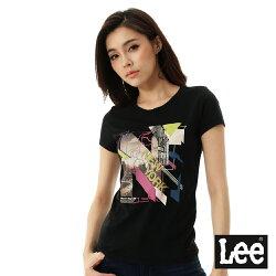 Lee 城市短袖T恤-女-黑