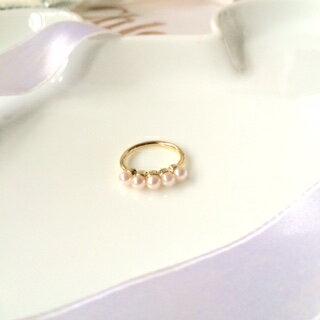 ~K startree首爾星星樹 ^#MUJI風優雅珍珠戒指