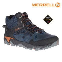 MERRELL 男 疾速健行鞋 BLAZE 2 MID GTX ML42423【深藍/橘】 / 城市綠洲 (Gore-Tex 防水鞋、防臭抗菌、黃金大底)
