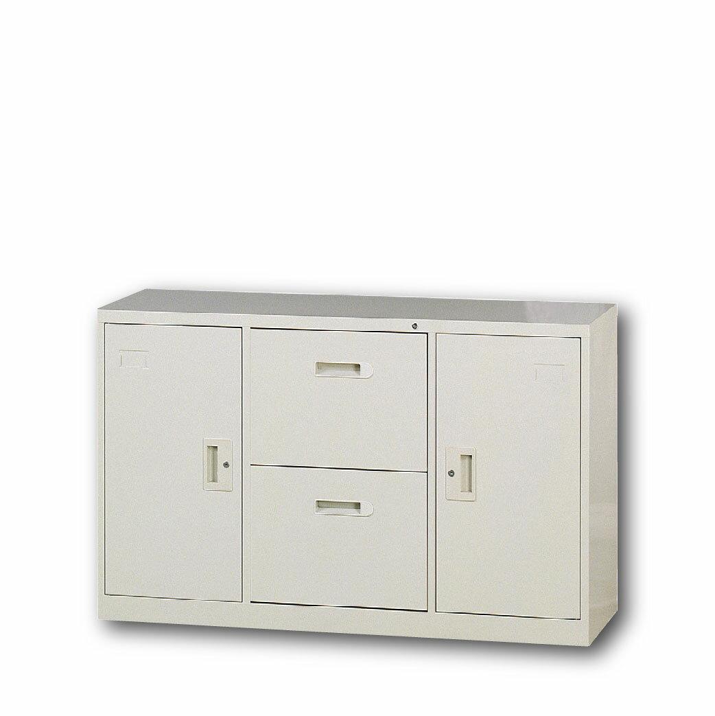 【哇哇蛙】4尺隔間櫃/二抽二門 A-4202D 辦公 學校 收納 文件報表 置物櫃 分類櫃 隔間櫃 鐵櫃 資料櫃