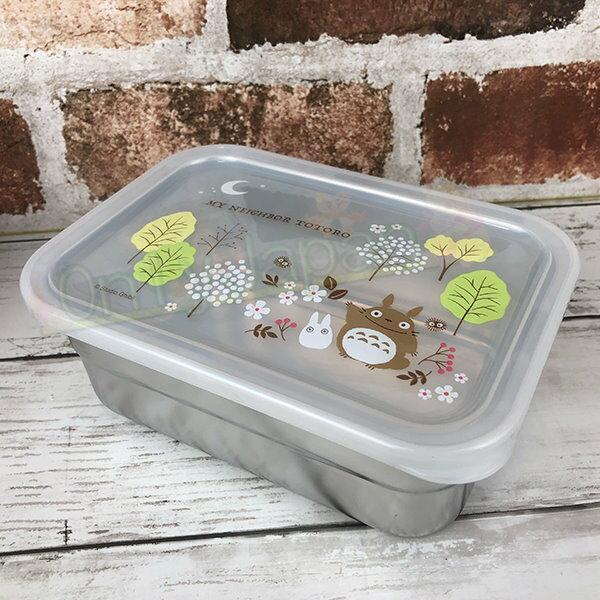 【真愛日本】19011900001 不鏽鋼保鮮盒850ml-龍貓花園 龍貓totoro 保鮮盒 保鮮盒 密封容器 便當盒 餐盒