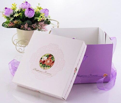 [零售量]方型蛋糕盒.幸福玫瑰8號 / 50個
