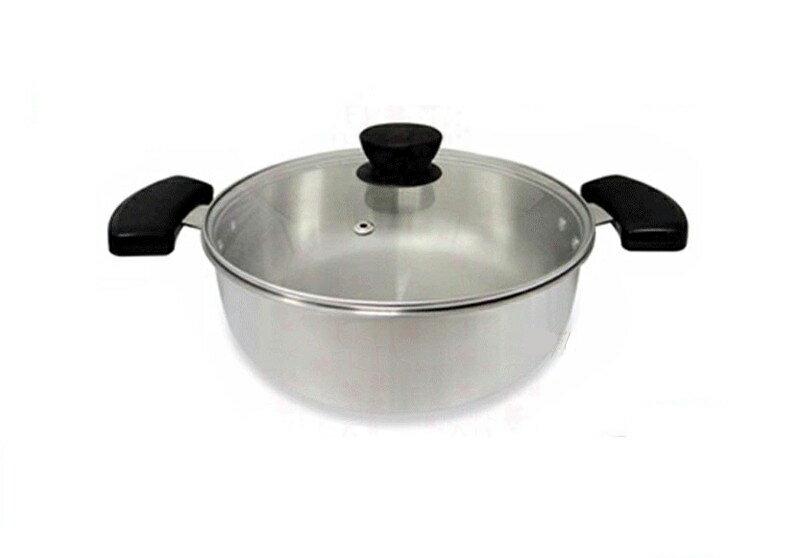 ~3D HOME~26cm五層複合金雙把原味湯鍋