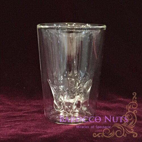 【Barocco Nuts】[特色擺飾]直立式冷熱兩用雙層玻璃牛奶杯-200ml (下午茶/透明杯/奶盅/蜂蜜杯/派對/果汁杯/牛奶杯/咖啡杯/玻璃器皿)