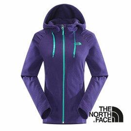 The North Face 女 刷毛保暖兜帽外套 石榴紫 CUK5