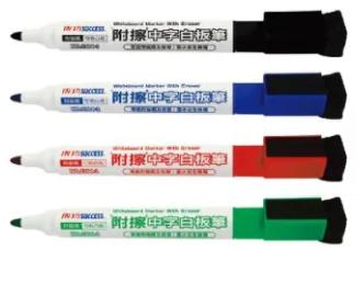 【曉童文具】成功Success 1304中字白板筆 環保白板筆 [筆蓋附磁鐵及板擦]